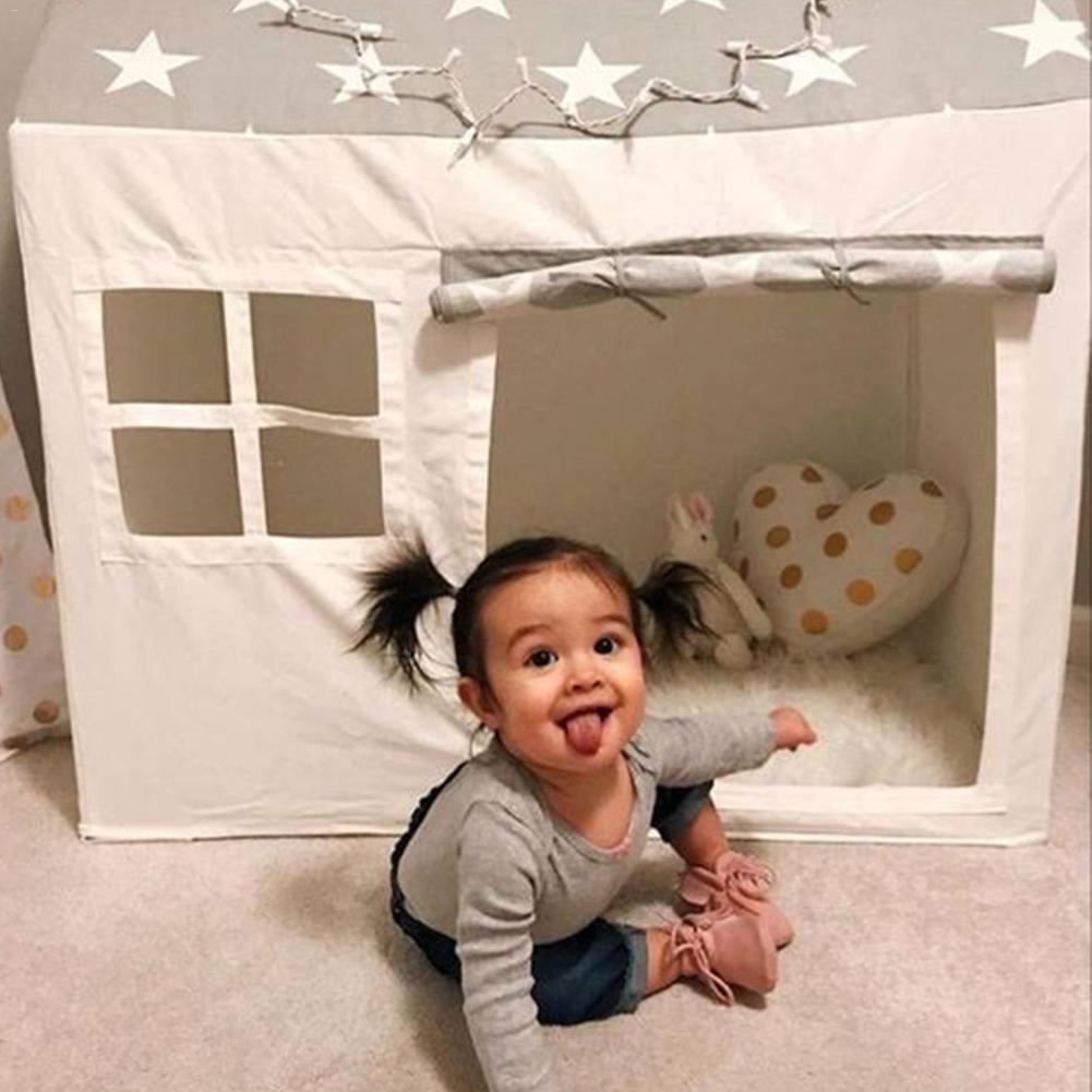 Tente de jeu jouet Portable pliable balle piscine fosse intérieure extérieure Simulation maison Beige tente Playhouse cadeaux jouets pour enfants enfants