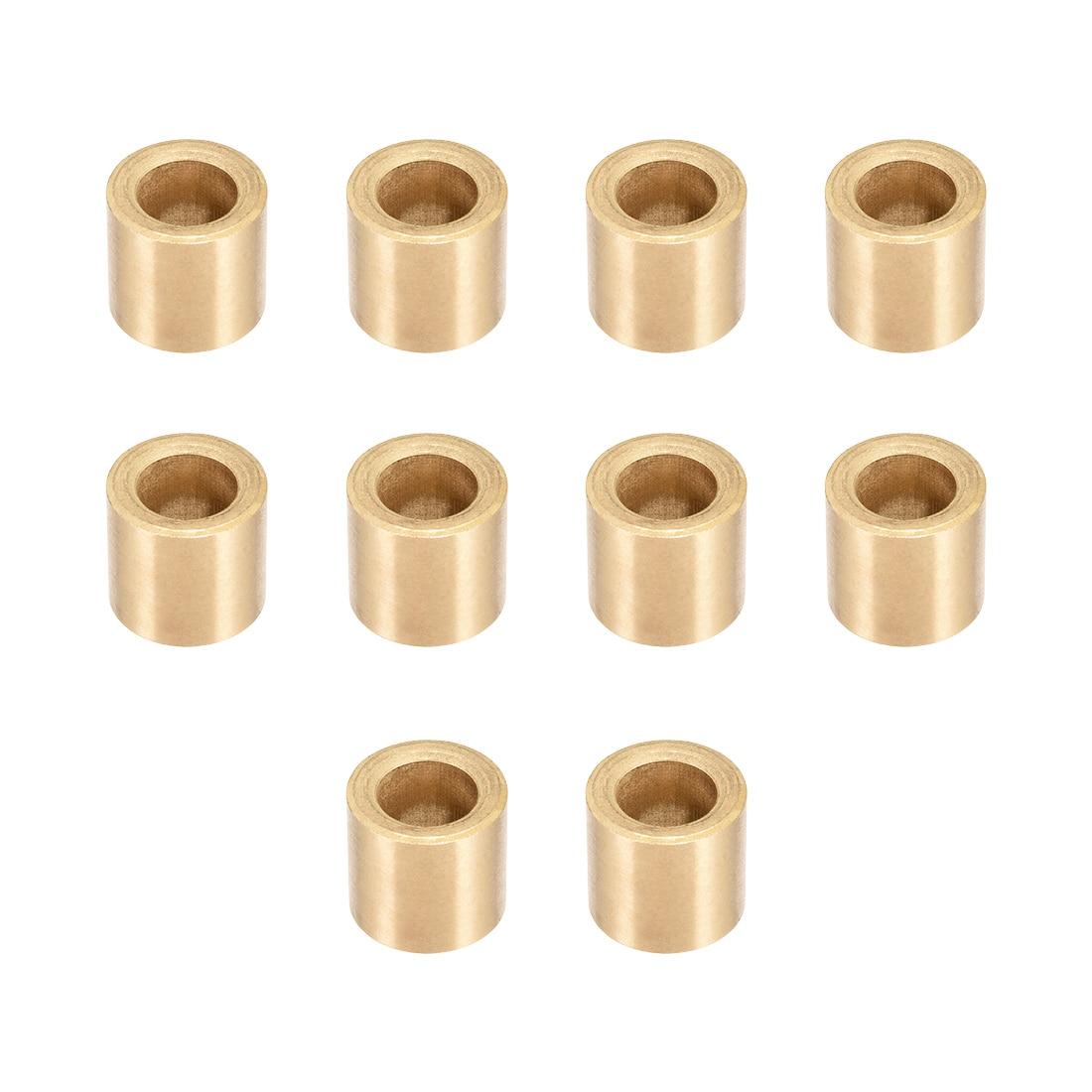 uxcell Sleeve Bearings 4mm Bore X 6mm OD X 8mm Length Plain Wrapped Oil-Less Bushings 10pcs