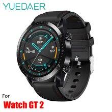 YUEDAER силиконовый+ ремешок из искусственной кожи для huawei Watch GT 2 ремешок быстросъемный ремешок для huawei Watch GT2 46 мм спортивные часы