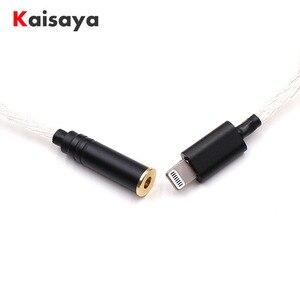Hi-Fi серебряный адаптер для наушников для iPhone 7 8 X AUX адаптер для Lightning 3,5 мм 4,4 мм 2,5 мм Женский кабель для наушников T0913