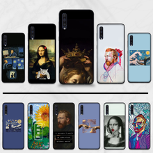 Mona Lisa Van Gogh funny pattern Coque Shell Phone Case For Samsung Galaxy A 3 6 7 8 10 20 30 40 50 70 71 10S 20S 30S 50S PLUS(China)