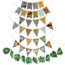 New Turtle Back Leaf Animal Lines Tail Pennant Pattern Flower Flag Hawaii Party Banner