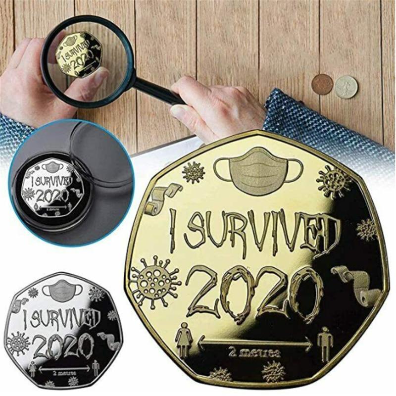 Горячая Распродажа я пережила 2020 памятная монета воспоминания о былом подарок особый сувенир монеты металла Новый Год Non-монеты иностранны...