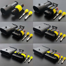 1 set Kit 1/2/3/4/5/6 pins Super seal AMP 1.5 male and female Electrical Plug Automotive waterproof Xenon lamp connector for car цена и фото