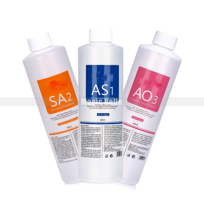 AS1 + SA2+AO3 Aqua Peeling Solution Cleansing Power Facial Serum Hydra Dermabrasion Bottle For Skin Care 3pieces/set