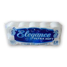 10 rolls toilet paper bulk bath tissue bathroom white soft 3
