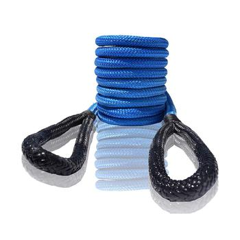 Blue 12mm*6m Egnery Recovery Rope,1/2*20ft Kinetic Rope,Tow Rope Heavy Duty Vehicle Tow Strap for Truck ATV UTV SUV