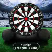 4M Huge High Inflatable Dart Board Game Inflatable Football Dart Board With 220V Air Blower Outdoor Sports Inflatables Toys