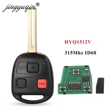 Jingyuqin מרחוק מפתח 3 לחצנים 315mhz 4D68 שבב לקסוס GX470 LX470 2003 2008 HYQ1512V 89070 60801