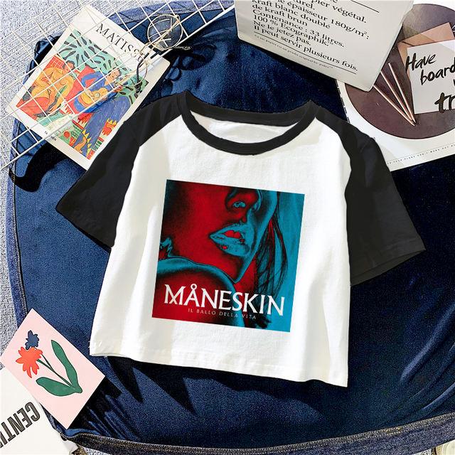 MANESKIN CROP TOP T-SHIRT (6 VARIAN)