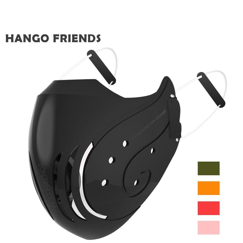 Hango Summer Bike Face Mask PM2.5 Washable Mask Adult Reusable Mask Man Women Mask with Filter Korean Black Mask Protection