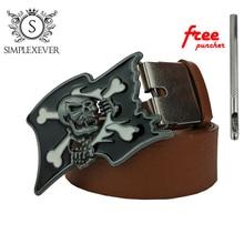 Запад Ковбой джинсы подарок пряжки ремня с антикварной серебряной отделкой на кнопках ширина 4см на череп