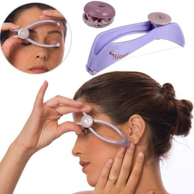 Women Hair Removal Epilator Mini Facial Hair Remover Spring Threading Face Defeatherer for Cheeks Eyebrow DIY Makeup Beauty Tool
