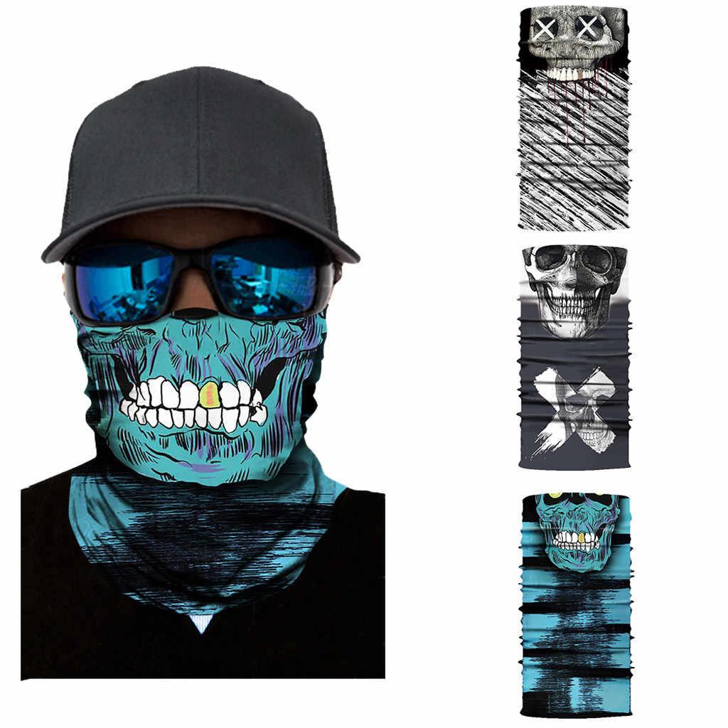 3D di Scheletro Del Cranio Senza Soluzione di Continuità Sciarpa Magica Viso di Pesca Maschera da Sci in Bicicletta Bandane Esterno Della Fascia Del Tubo Della Sciarpa Degli Uomini Delle Donne Del Collo Cicatrice #4