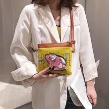 2019 New Summer Tide Korean version Fashion Mini Cartoon single shoulder oblique Span bag
