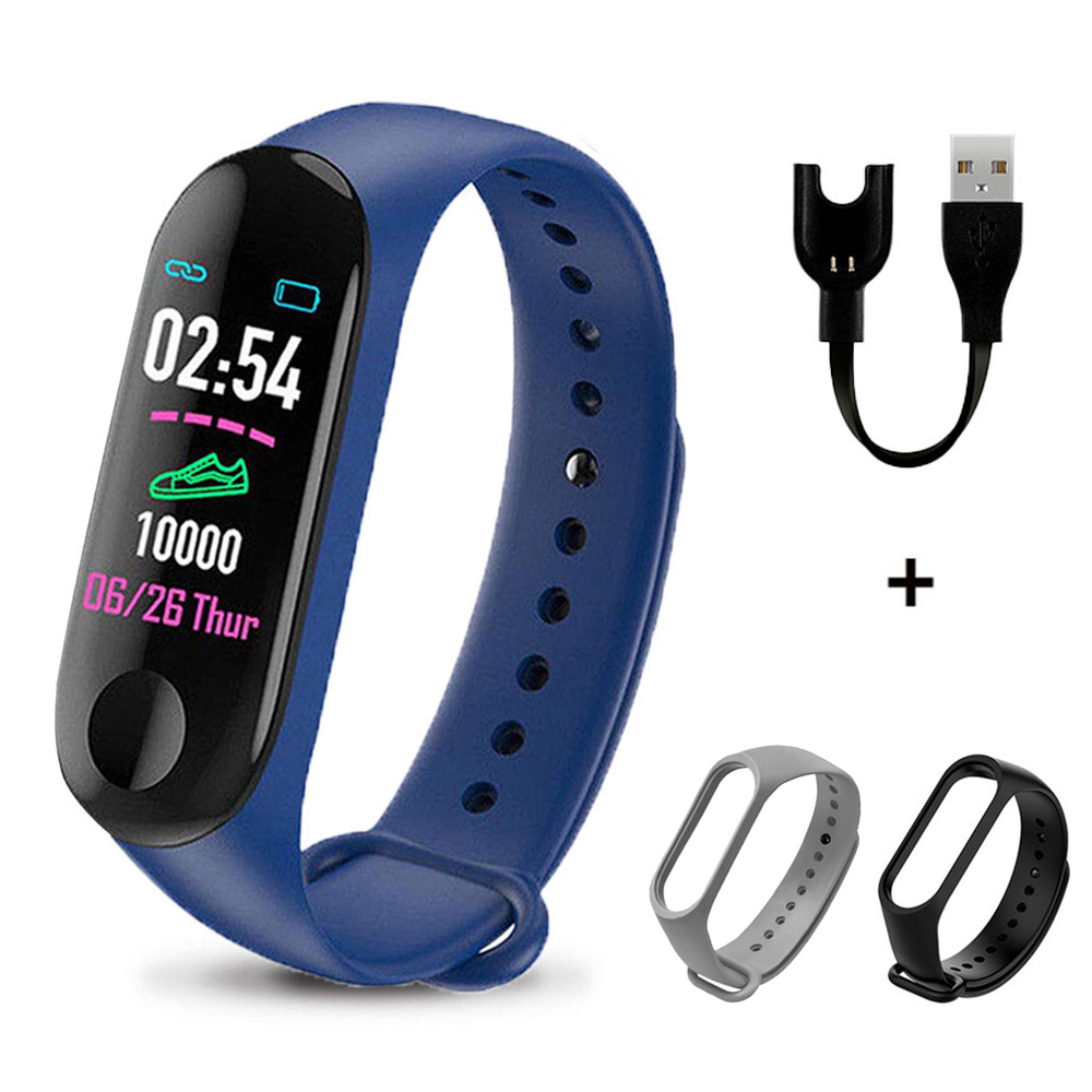 M3plus Smart Wristband Smart Bracelet with Extra Strap Smart Band Heart Rate Activity Fitness Tracker Smart Watch M3 Pro M3 Plus image