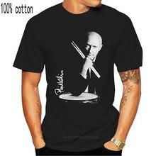 Camiseta negra de algodón para hombre, prenda de vestir, de estilo clásico, con estampado de la banda del Rock, de S-3XL, de talla grande