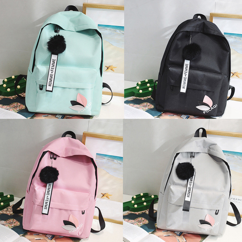 Backpack Fashion Canvas Women Backpack Doll Pendant Travel Women Shoulder Bag Harajuku Backpack Female Mochila Bagpack