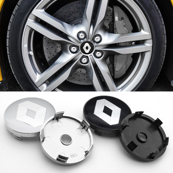 4PCS 56mm + 60mm for Renault- Espace Twingo Megane Auto Accessories Car Styling Sticker Wheel Center Hub Cap Badge Rim caps image