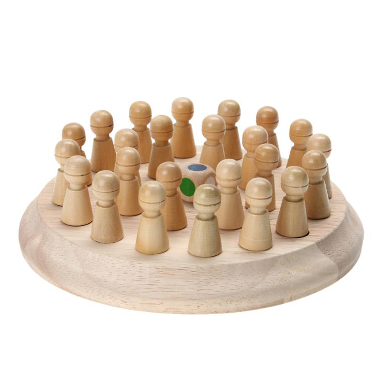 Montessori Kids Wooden Memory Game Color Cognitive Match Stick Chess Game Fun Block Board Educational Ability Toy For Children
