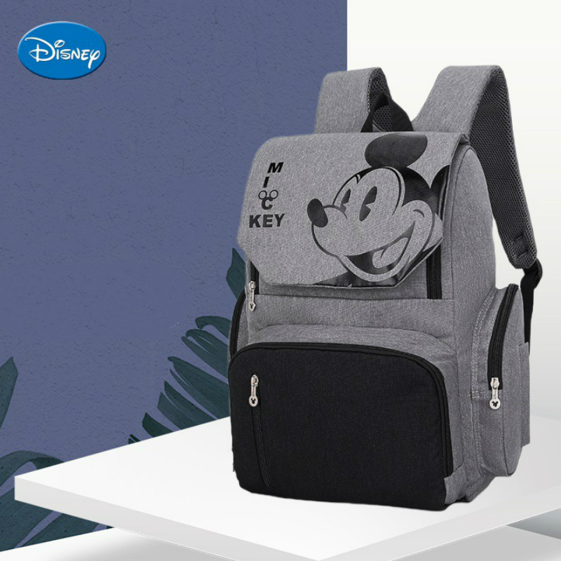 Sac à dos de voyage Disney pour maman | Sac de voyage Mickey Mouse, sac à main couches de mode, sac humide pour bébé, sac organisateur pour soins pour bébé