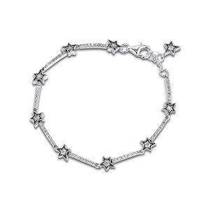Image 4 - Celestial Stars Bracelet Clear CZ 925 Sterling Silver Bracelets Jewelry Female Fashion Chain Bracelets for Women Winter Jewelry