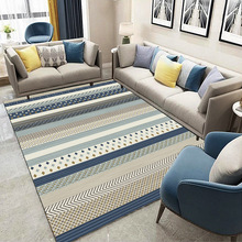 Ковры в скандинавском стиле, мягкое современное минималистичное одеяло для журнального столика, прямоугольный мат, коврик для спальни, про...