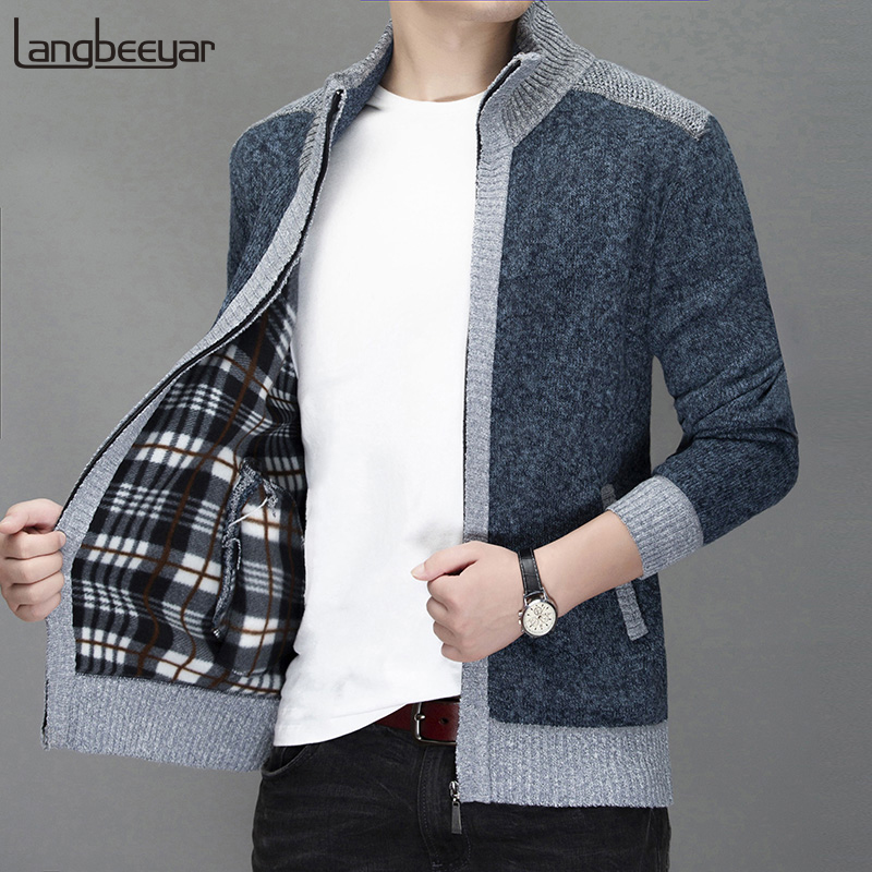 2019 Thick Velvet New Fashion Windbreakers Jackets For Men Street Wear Trend Overcoat Autumn Winter Casual Coat Mens Clothing