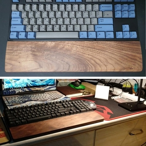 Image 5 - Repose poignet de clavier mécanique en bois de noyer avec tapis anti dérapant Support de poignet de bureau de jeu ergonomique 61 87 104 touches