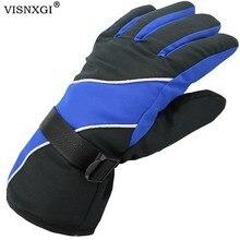 VISNXGI зима лайкра Водонепроницаемый многоцветный Guantes для мужчин Esquiar перчатки тепловой ветрозащитный согреться Esquiar Ciclismo Guantes Moto