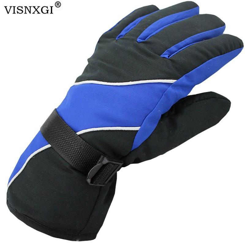 VISNXGI Winter Lycra Waterproof Multicolor Guantes Men Esquiar Gloves Thermal Windproof Keep Warm Esquiar Ciclismo Guantes Moto