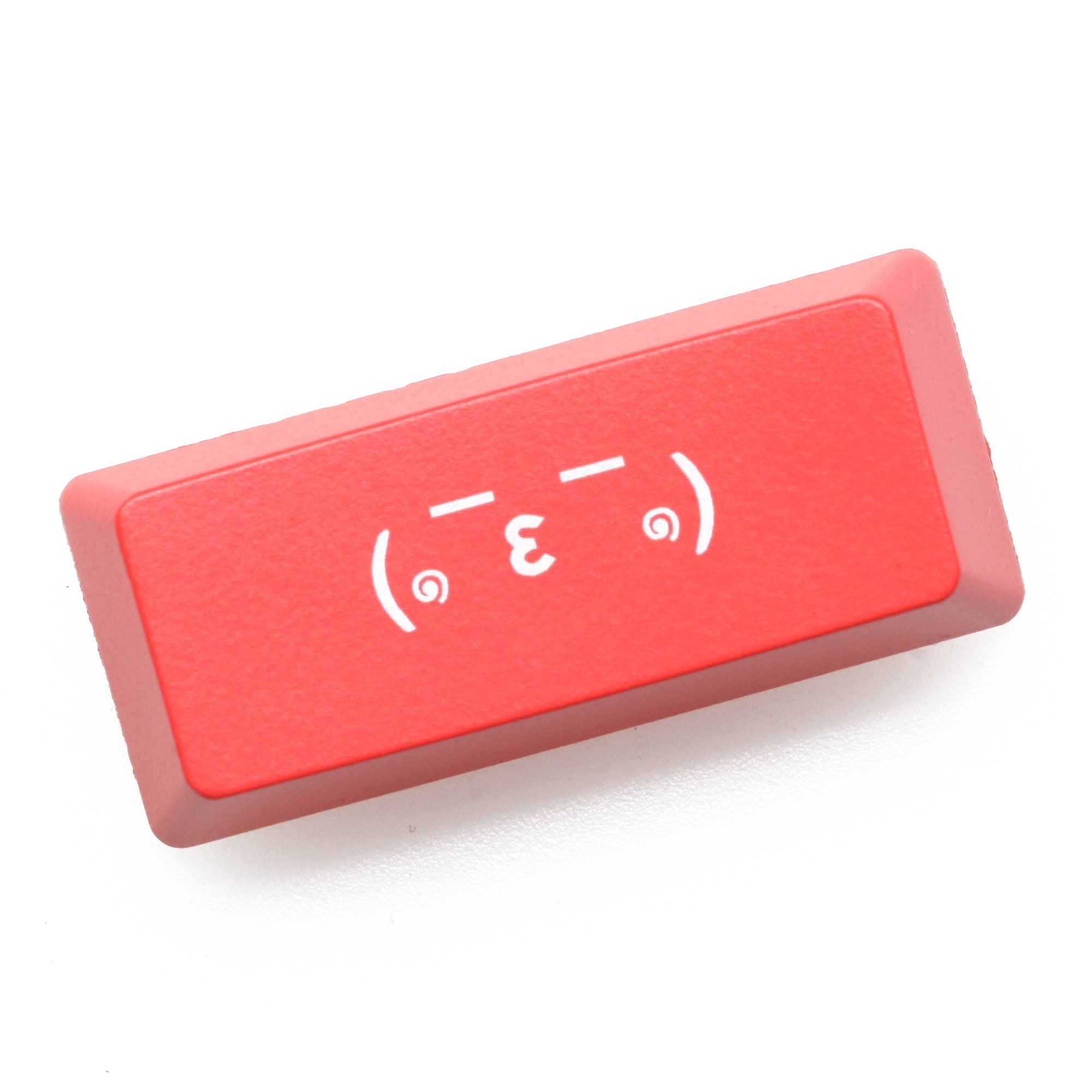Novelty Shine Through Keycap ABS Etched Shine-Through Left Shift 1.25u Alt 2.25u Shift Kaomoji Sleep Kiss Snicker