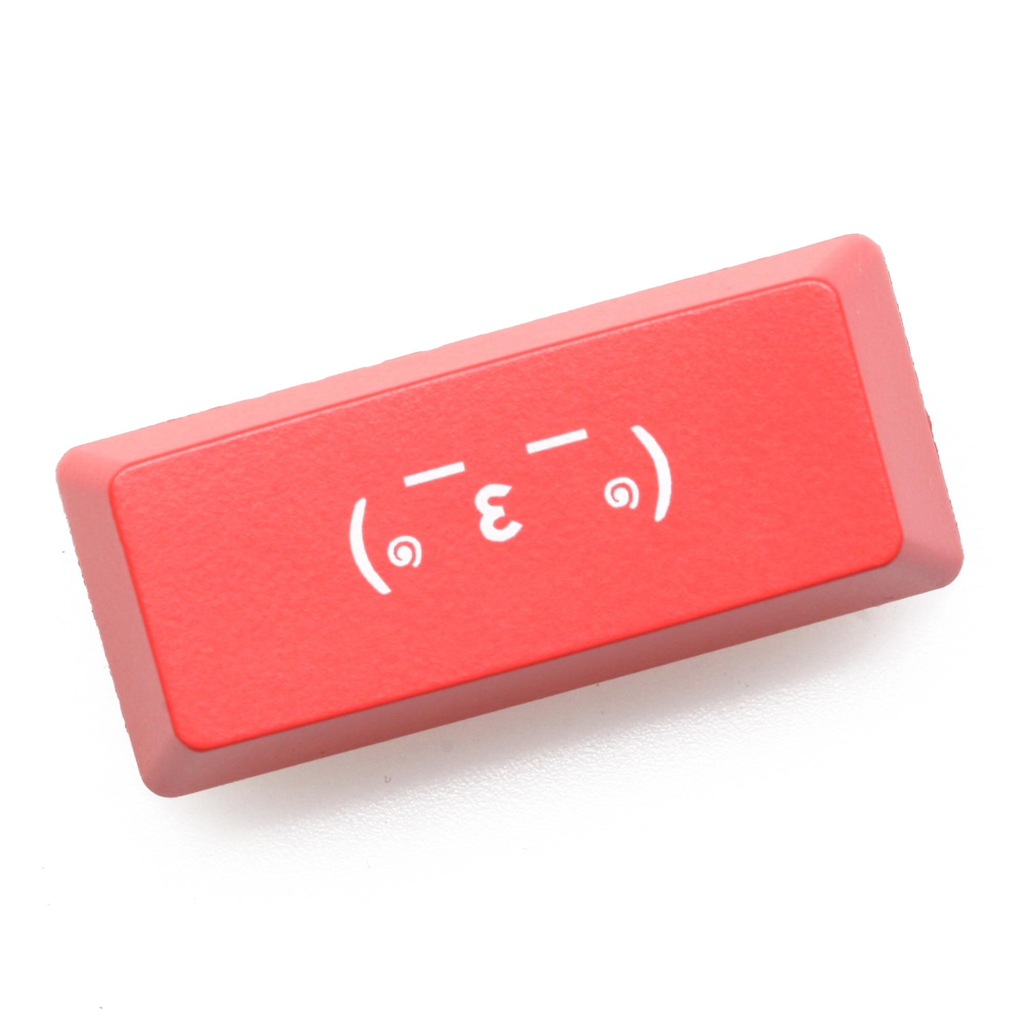 Novelty Shine Through Keycap ABS Etched Shine-Through Left Shift 1.25u Alt 2.25u Shift Kaomoji Sleep Kiss Snicker