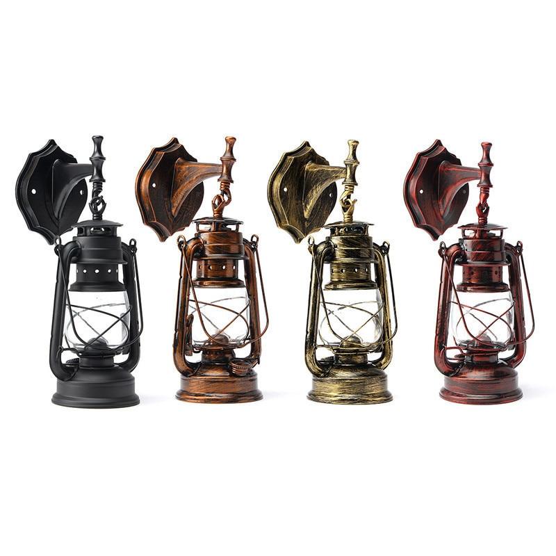 e27 parede de luz led lampada de parede retro querosene do vintage lanterna celeiro rustico europeu