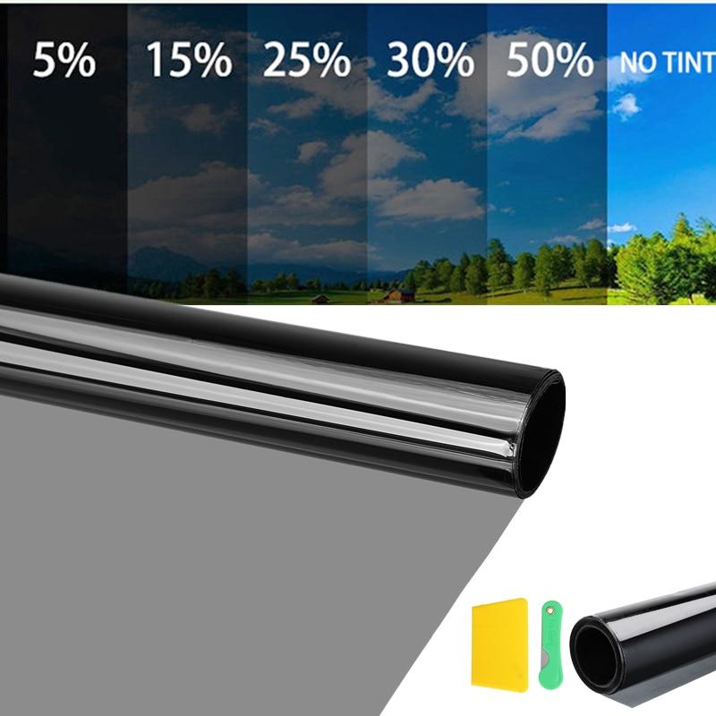 300x75cm 자동차 창 색조 착색 필름 롤 자동 홈 창 유리 여름 태양 자외선 보호기 스티커 Anti-explosion Window Foils