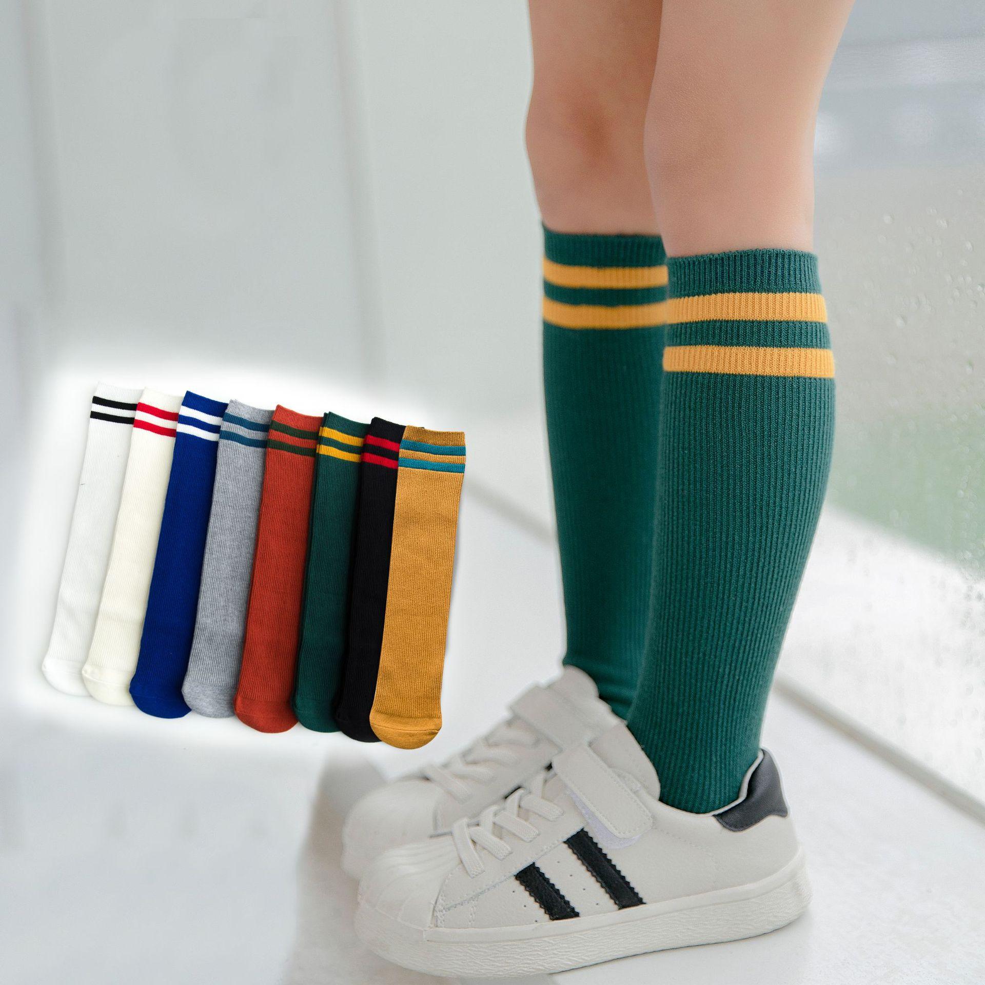 Small Alpaca Spring New Style Cotton Children Parallel Bars College Style Tube Socks Men And Women Children Football Socks