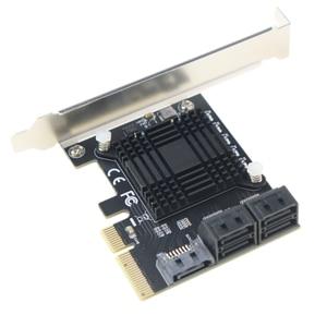 Image 3 - PCI Express contrôleur dextension 3.0x4 à 5 ports SATA III, 6Gbps, carte dextension, multiport pour HDD SSD, avec câbles de données 5x