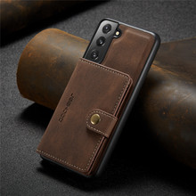 luxury brand retro leather case for samsung galaxy s21 plus ultra note 20 phone bumper shell with card holders