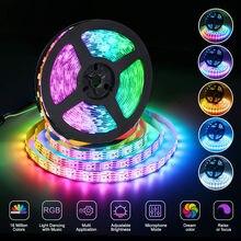 Diode Tape Ribbon led light strip Light 5M 5050 SMD 150 Pixels Strip lamp RGB LED Flexible Dual Signal DC12V Non waterproof
