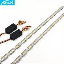 RONAN Luz LED de circulación diurna para coche, lámpara de color ámbar, blanco, amarillo, DRL, 60