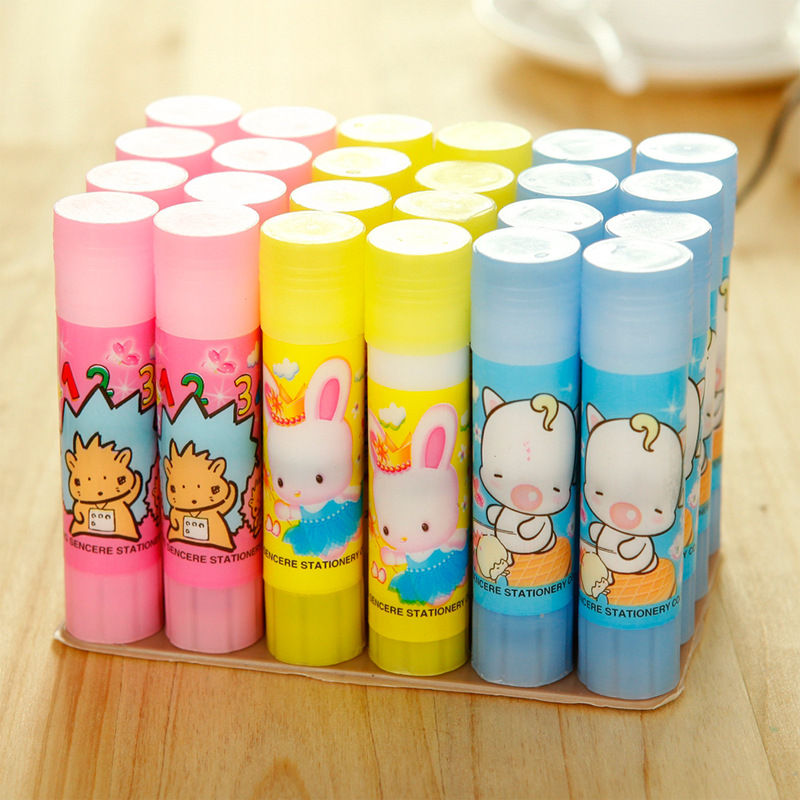 2pcs 10g White Glue Stick School Office Supplies Stationery Cartoon Cute Wholesale