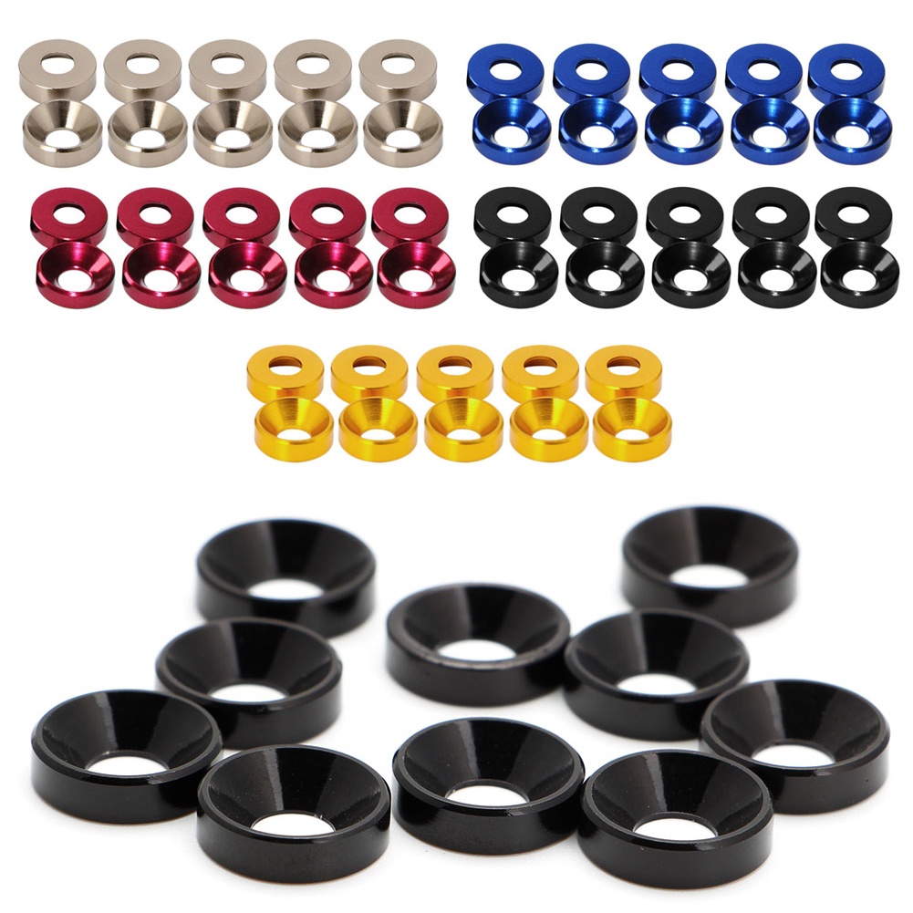 Aluminum Alloy M2 M3 M4 M5 Anodized Countersunk Head Bolt Washers Gasket image