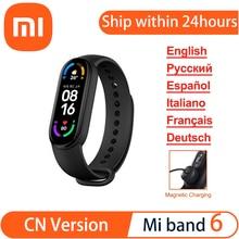 Xiaomi Mi Band 6 Smart Bracelet 1.56'' Full Amoled Screen 5atm 326 Ppi Resolution Spo2 Tracking Fitness Heart Rate Traker Xiaomi