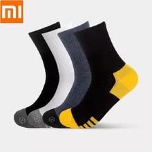 Антибактериальные мужские носки Qimian из чесаного хлопка, мужские носки средней длины, дышащие удобные мужские носки с медленным шоком для здоровой кожи