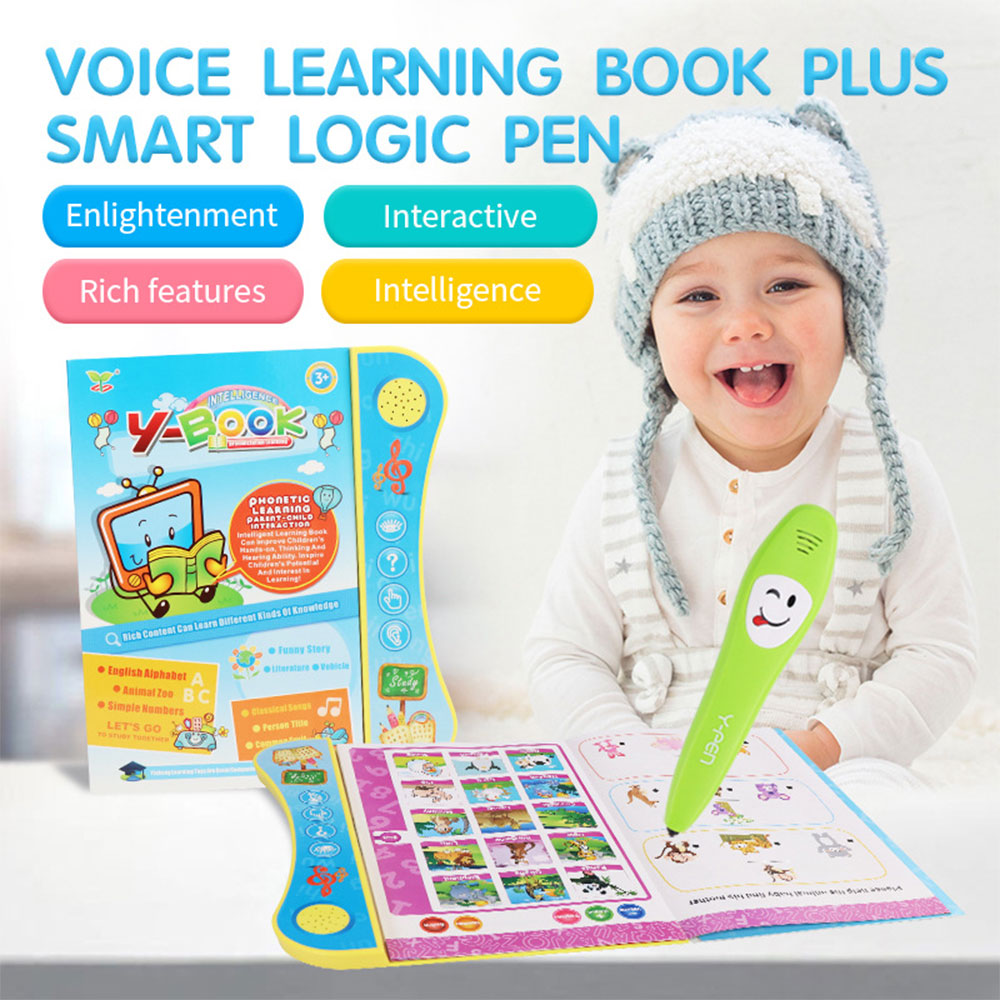 2019 Hot Electric Point Reading Machine Pen Chinese English Learning Book English Audio Reading E-book Toy With Pen Child Gifts