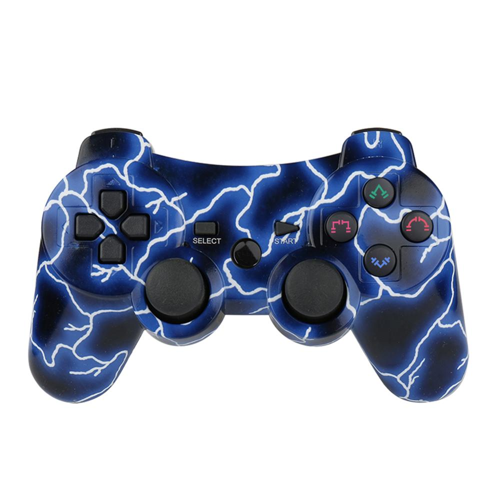 PS3 Controller 2 Pack Wireless Dual Shock Gamepad for Sony Playstation 3 with Charging Cord