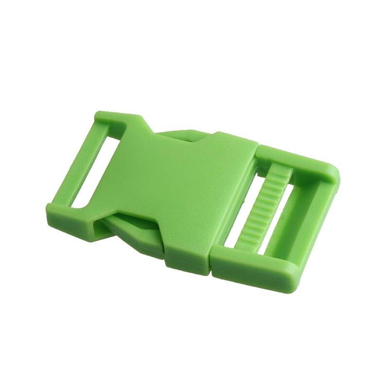 2 шт 25 мм Красочные пряжки ABS застежки для Паракорда браслет рюкзаки одежда сумки запчасти - Цвет: Green