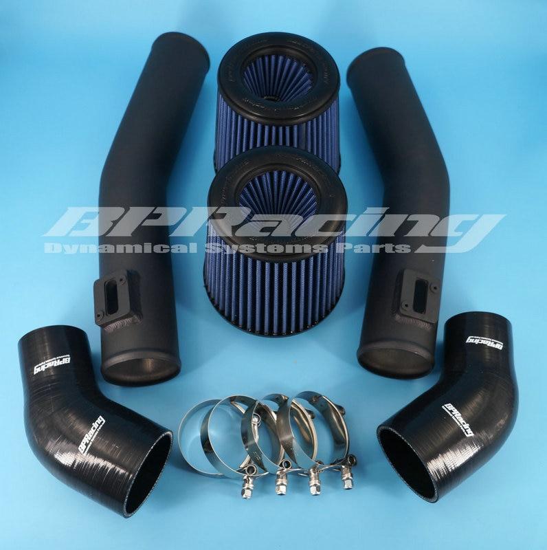 最高のパワー 76 ミリメートル吸気管キット日産 GTR R35 黒