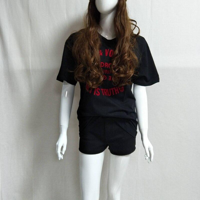 Women T-shirt Summer New Women's Cotton Short Sleeve Letter Print Short Sleeve T-Shirt