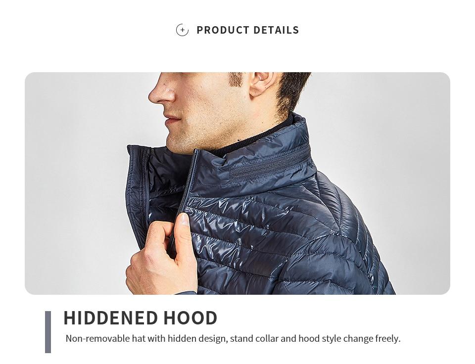 com capuz de alta qualidade, jaqueta ultraleve